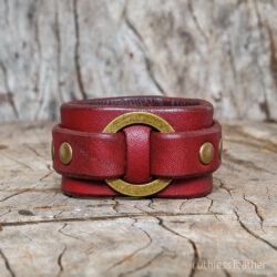 ruthless leather o-ring cuff