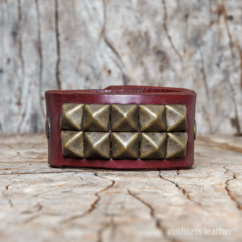 ruthless leather rocknrolla cuff