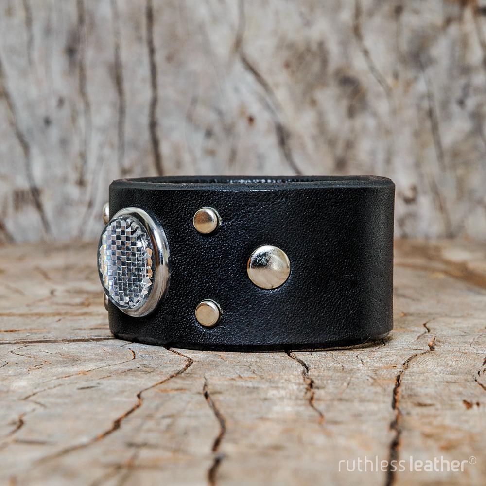 ruthless leather nightowl cuff