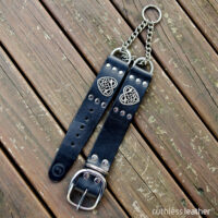 ruthless leather sweetheart martingale