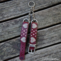 ruthless leather heart throb martingale