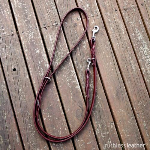 ruthless leather three-way handsfree leash