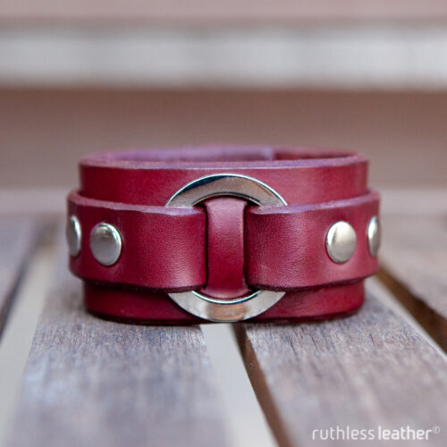 ruthless leather o-disc cuff