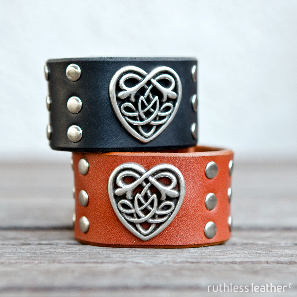 ruthless leather sweetheart cuffs