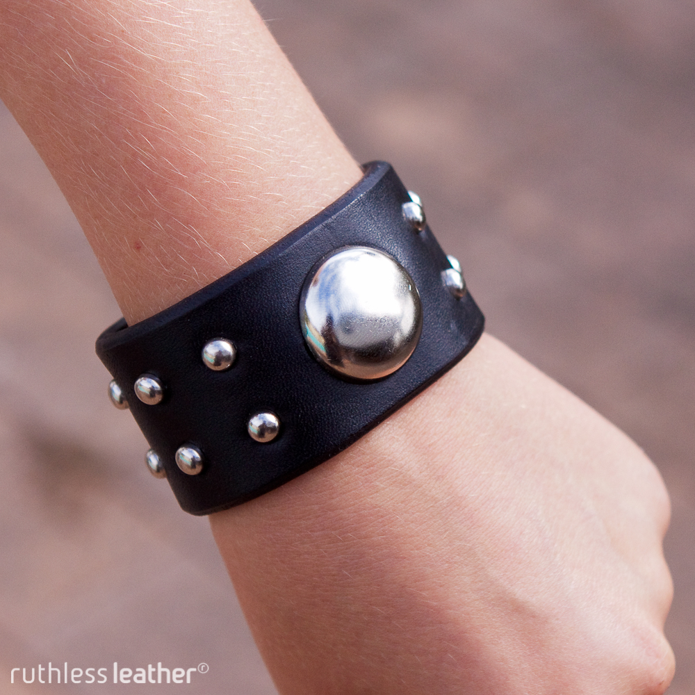 ruthless leather galaxy cuff