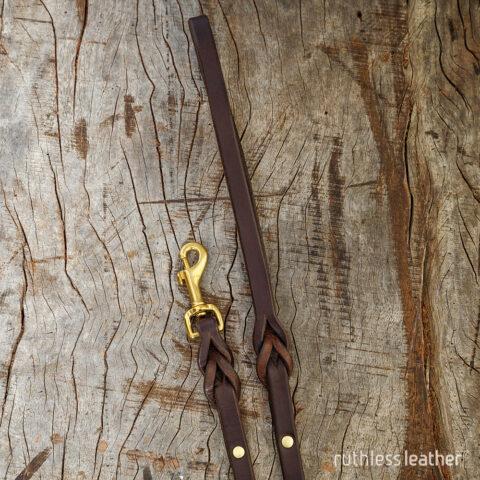 ruthless leather mini leash