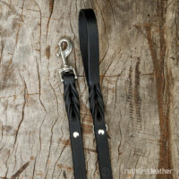 ruthless leather standard leash (t)