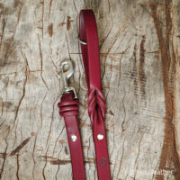 ruthless leather standard leash (k)