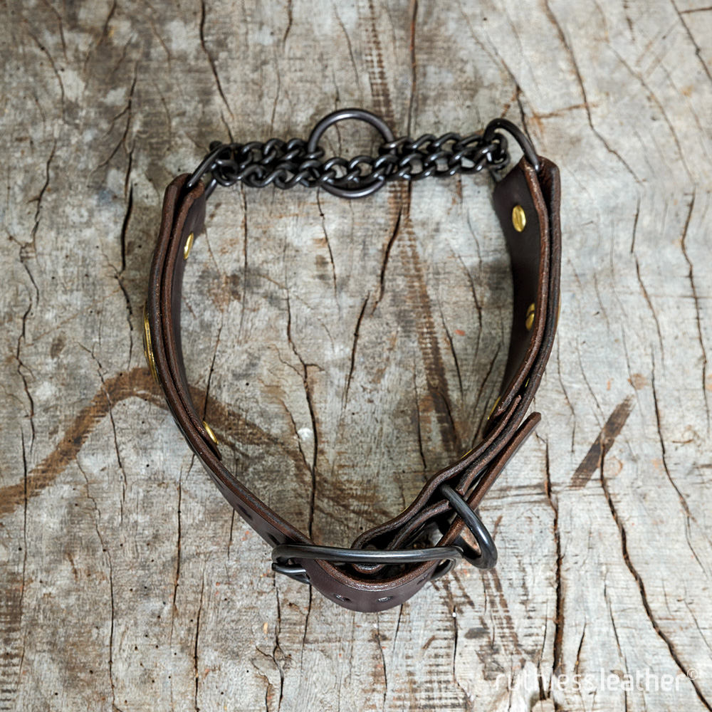 ruthless leather lone ranger martingale collar