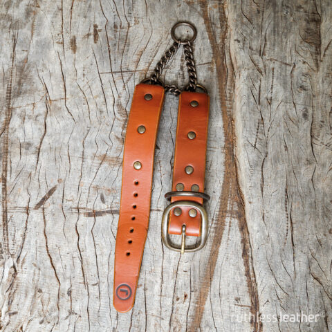 ruthless leather no frills martingale collar