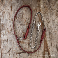 ruthless leather chain leash