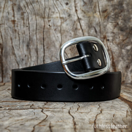 ruthless leather wide no frills belt